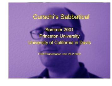 Erfahrungsbericht Sabbatical - ITEK