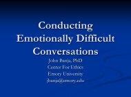 Managing Emotionally Difficult Conversations