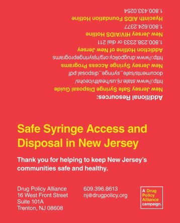 Over the Counter Syringe Sale Palm Card - Drug Policy Alliance