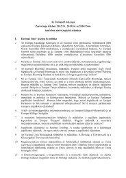 Az Európai Unió joga Záróvizsga tételsor 2012/13., 2013/14. és ...