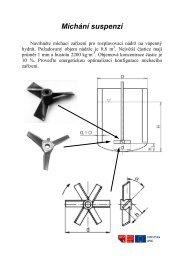 Míchání v kapalném prostředí - míchací zařízení, statické směšovače
