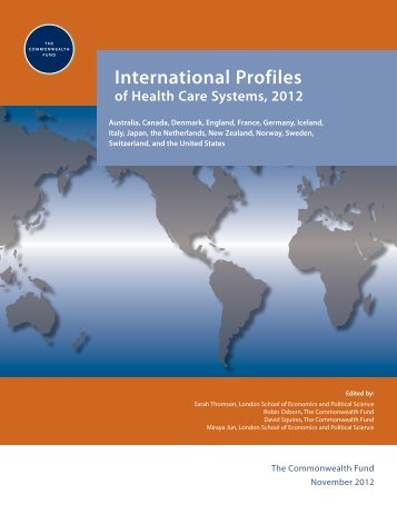 International Profiles of Health Care Systems, 2012 - The ...
