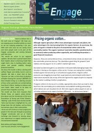 Pricing organic cotton...