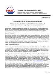 European Candle Association ASBL