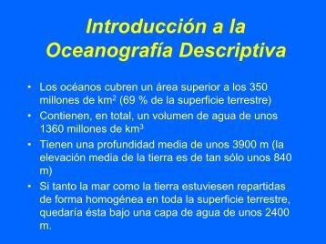 Introducción a la Oceanografía Descriptiva - CEAB