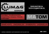 Overige machines - Matom