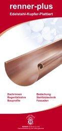 renner-plus Flyer - RENNER  GmbH & Co. KG