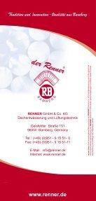 renner-plus Flyer - RENNER  GmbH & Co. KG - Seite 4