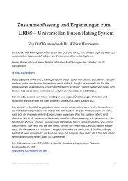 BIG VHF Blank 45 - Universelles Ruten Rating System