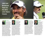 CBS Golf Broadcast Team for the 2012 John Deere Classic