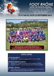 PV N°108 DU JEUDI 13 SEPTEMBRE 2012