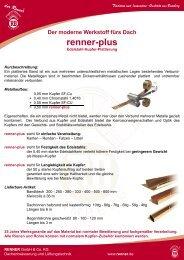 renner-plus - RENNER GmbH & Co. KG