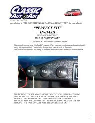 """specializing in """"AIR CONDITIONING, PARTS AND ... - Classic Auto Air"""