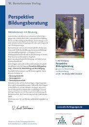 Perspektive Bildungs beratung - 9. wbv-Fachtagung Perspektive E ...