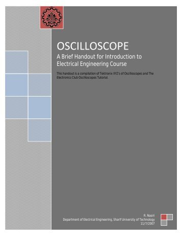 Oscilloscope manual - Department of Electrical Engineering - Sharif ...