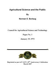 Agricultural Science and the Public - Council for Agricultural Science ...