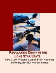 regulating death in the lone star state - American Civil Liberties Union