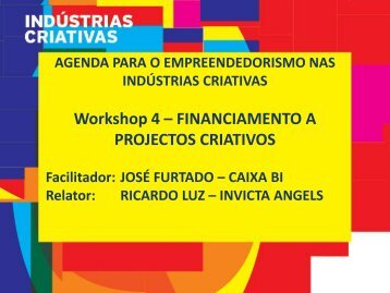 Financiamento a Projectos Empresariais Criativos