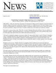 21st-Century Report Press Release - American Association of ...