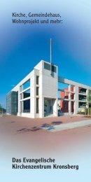 Das Evangelische Kirchenzentrum Kronsberg - St. Johannis ...