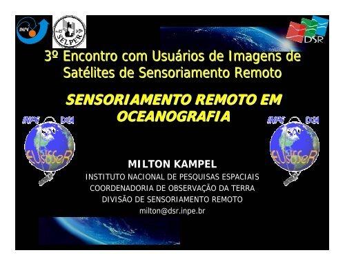 SENSORIAMENTO REMOTO EM OCEANOGRAFIA - INPE/OBT/DGI
