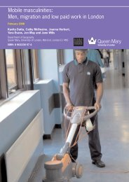 Mobile masculinities: Men, migration and low paid work in London