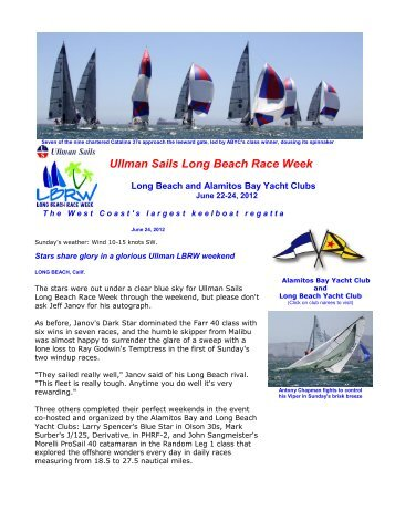 Press Release 7 - Racing Day 3 - Long Beach Race Week