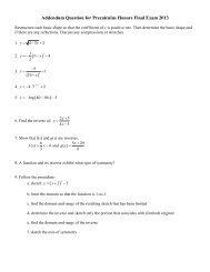 worksheet - 3. Precalculus Honors