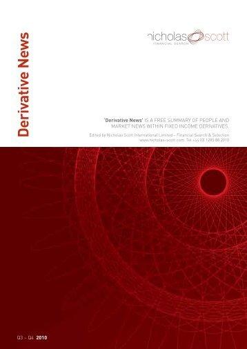 Derivative News - Nicholas Scott