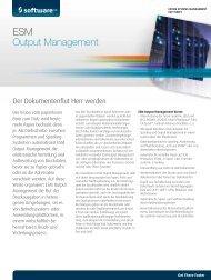 ESM Output Management - Software AG