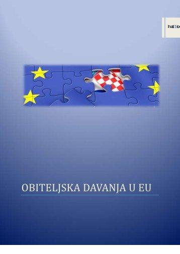 OBITELJSKA DAVANJA U EU