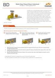 BD Multi Key Panel Door Interlock - Castell