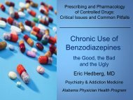 Prescribing and Pharmacology of Controlled Drugs: Critical Issues ...