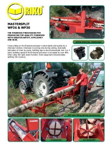 MASTERSPLIT WP36 & WP30 - Riko UK