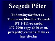 Szegedi Péter - Eötvös Loránd University
