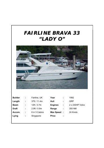 "FAIRLINE BRAVA 33 ""LADY O"" - SGBoating"