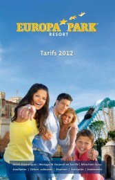 Europa Park Resort - Tarifs 2012