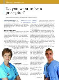Do you want to be a preceptor? - American Nurse Today