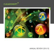 ANNUAL REVIEW 2011/12 - Clearswift
