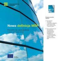 Europa – Przedsiębiorstwo – Nowa definicja MŚP – Poradnik dla ...