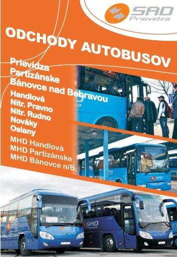 Cestovný poriadok prímestkej dopravy platné od ... - SAD Prievidza