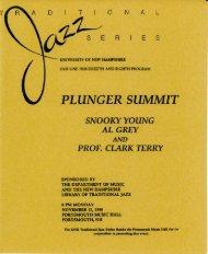 PTUNGER SUMMIT - University of New Hampshire