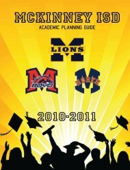 Plan to succeed - McKinney Independent School District