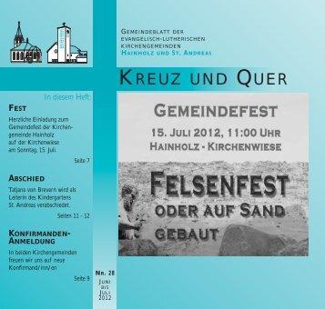 Juni/Juli 2012 - Ev-luth. Kirchengemeinde Hannover-Hainholz