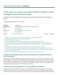 10 key facts you need to know about FATCA in relation ... - The Lawyer