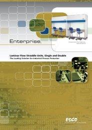 Laminar Flow Straddle Units, Single and Double - Esco