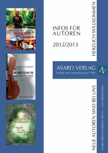 die Buchreihe im Asaro Verlag - Asaro Verlag - first edition