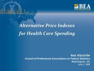 Alternative Price Indexes for Health Care Spending - Council of ...