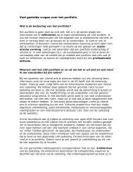 Veel gestelde vragen over het portfolio - Liberal Arts and Sciences