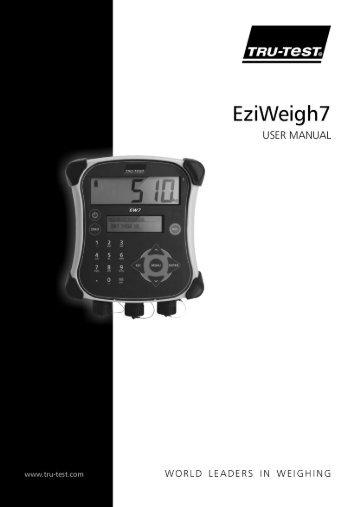 EziWeigh 7 User Manual - Remedy Animal Health Products Ltd.